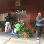 Graffiti Removed from Local Churches